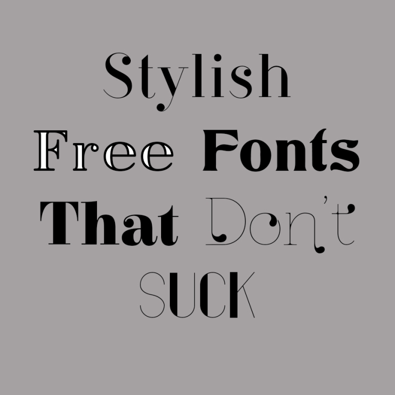 14 Fonts free for commercial use that dont suck - by Branding Darling - web