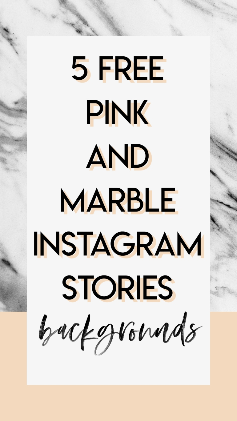 Freebie Peachy Pink and Marble Instagram Stories - backgrounds - by Branding Darling